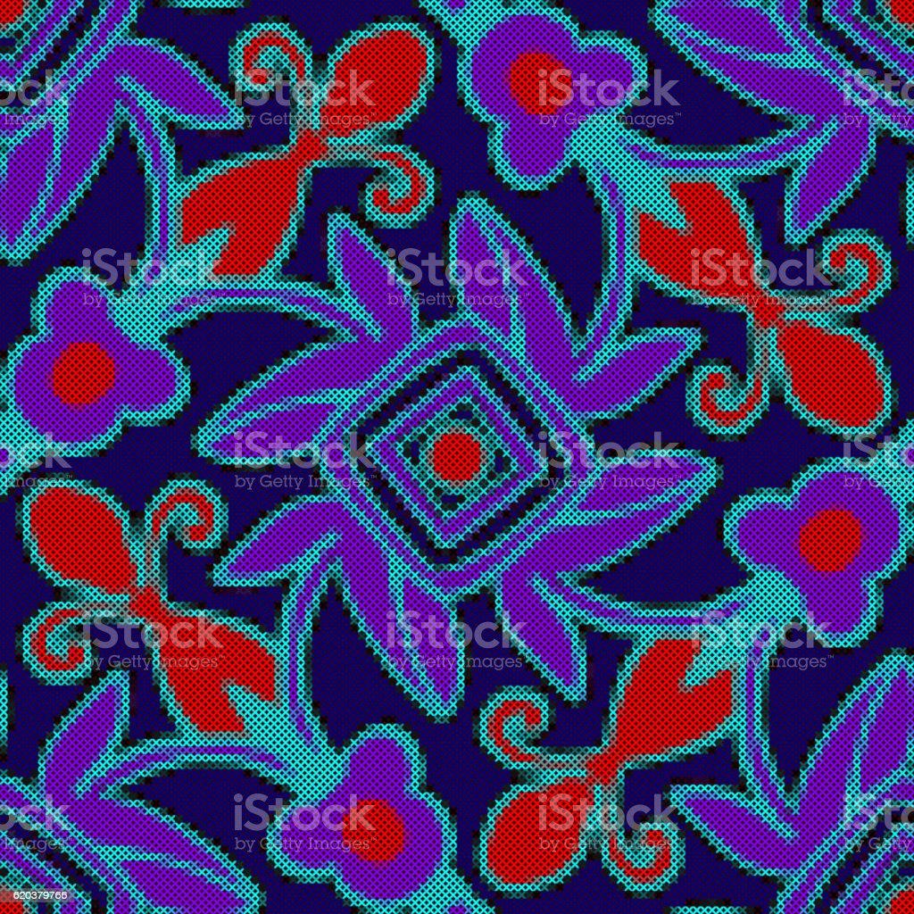 Bordado bordado - arte vetorial de stock e mais imagens de abstrato royalty-free