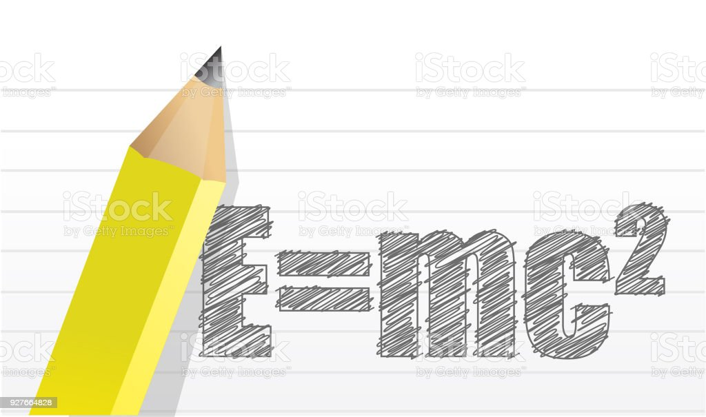 e=mc2 illustration design over a notepad background vector art illustration