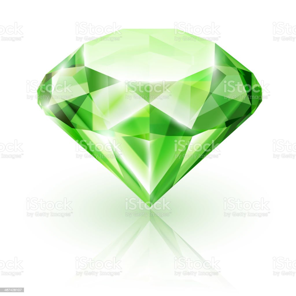 Emerald isolated on white - eps10 royalty-free stock vector art