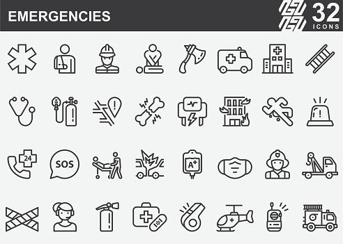 Emergencies Line Icons