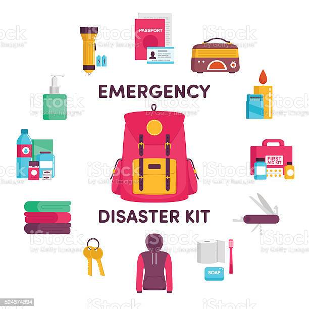 Emergency disaster kit vector id524374394?b=1&k=6&m=524374394&s=612x612&h=hzot2fdr0pc8g osdwoevzmlfj5ktsy9u7eet0p7woa=