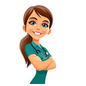 Illustration of a emergency doctor.