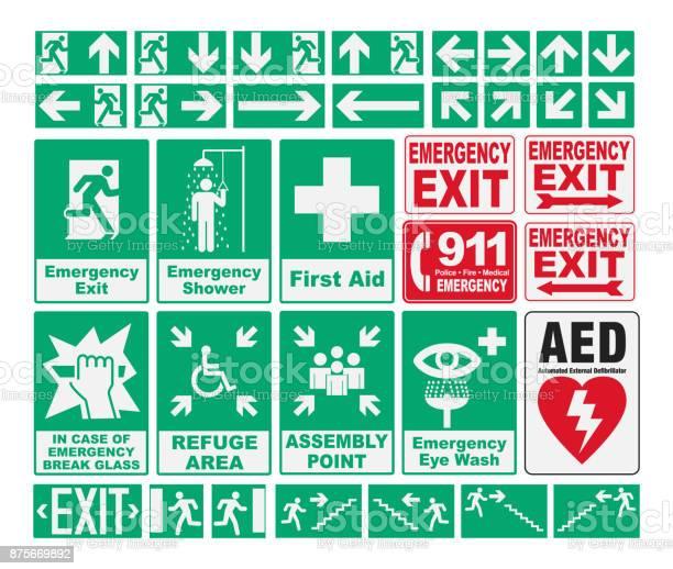 Emergency evacuations sings vector id875669892?b=1&k=6&m=875669892&s=612x612&h=vcbnpw30sa3xyc0 wtt1lzqwldzwq4w0ause4dmgth4=