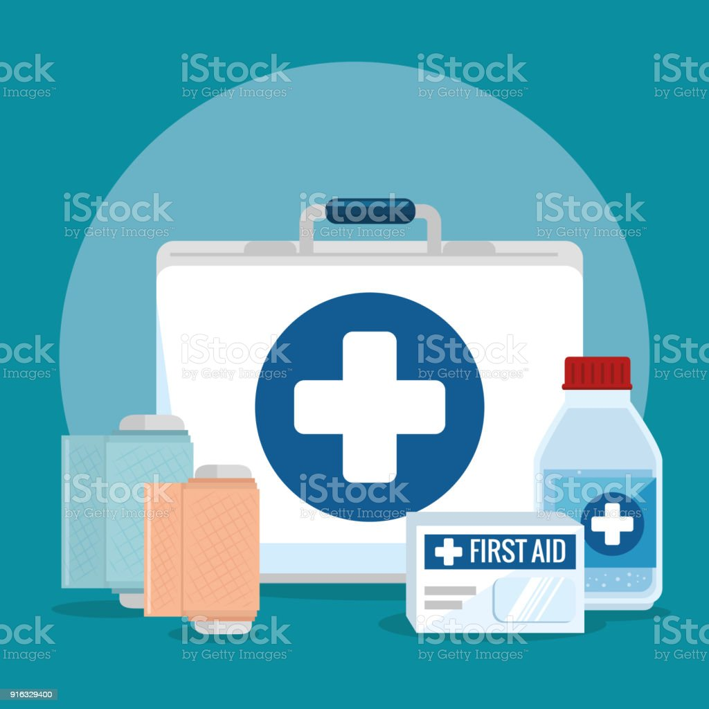 Emergency First Aid Icons Stock Illustration - Download Image Now