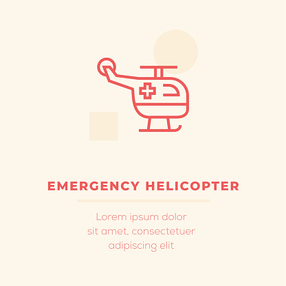 Emergency Helicopter Vector Icon, Stock Illustration