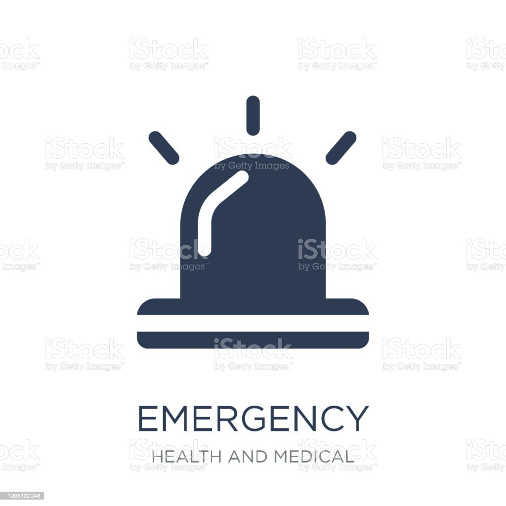 Emergency icon. Trendy flat vector Emergency icon on white background from Health and Medical collection vector art illustration