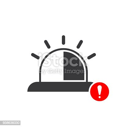 Emergency Icon With Exclamation Mark And Alert Error Alarm Danger Symbol Stock Vector Art More Images Of 938636030