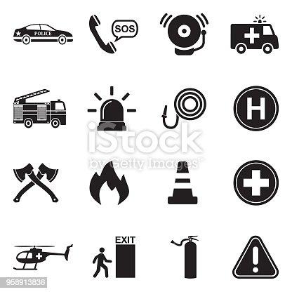 Police, Fireman, Hospital, Help, Emergency
