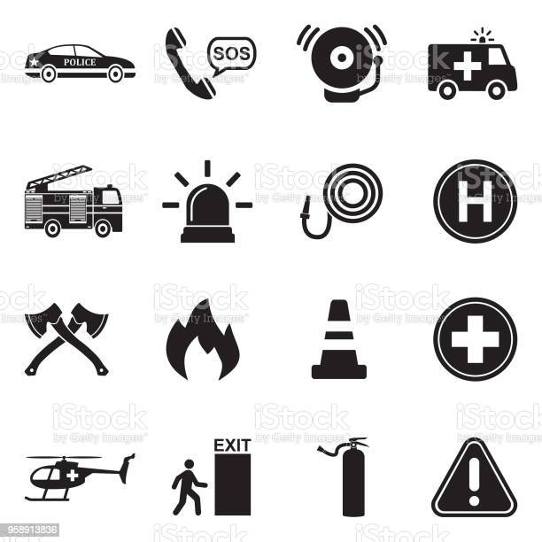 Emergency icons black flat design vector illustration vector id958913836?b=1&k=6&m=958913836&s=612x612&h=jemucgty3lkoxe8czzlirh0cnhn f1c4zryok7ceyc4=