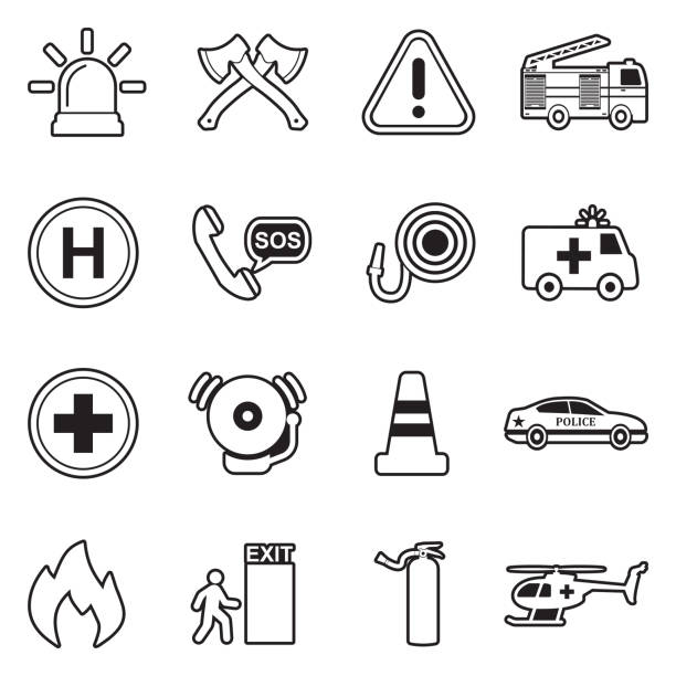 Car Warning Light Illustrations, Royalty-Free Vector
