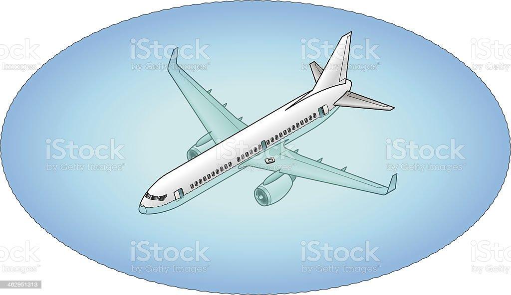 Emergency Landing vector art illustration