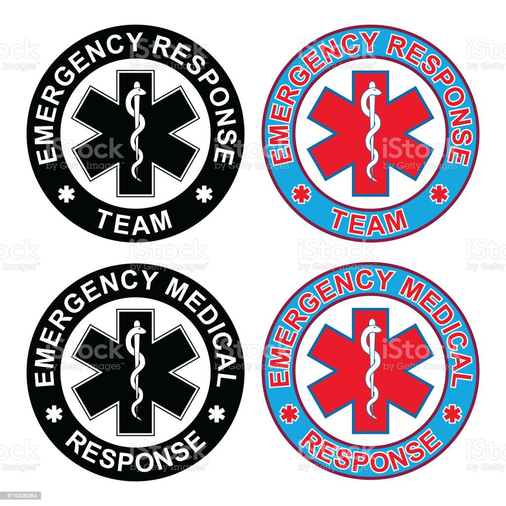 Emergency Medical Response Team vector art illustration