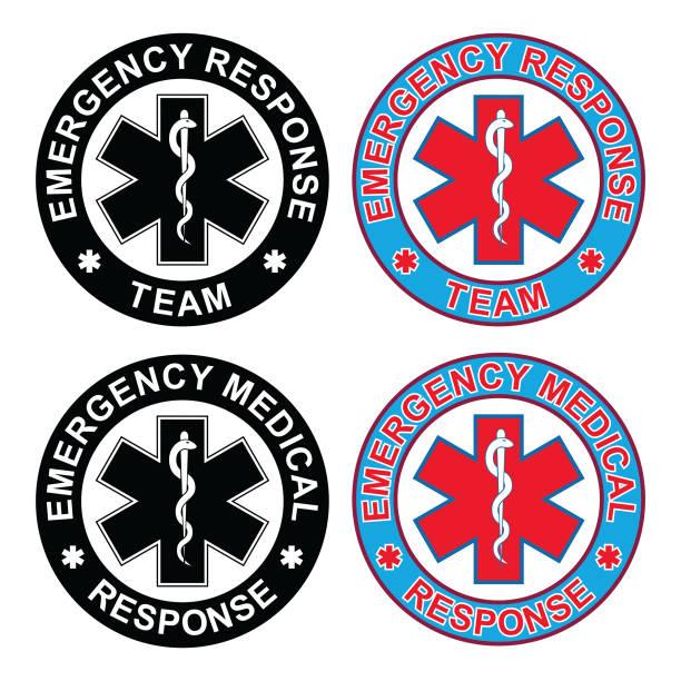 緊急時の医療対応チーム - 救急救命士点のイラスト素材/クリップアート素材/マンガ素材/アイコン素材
