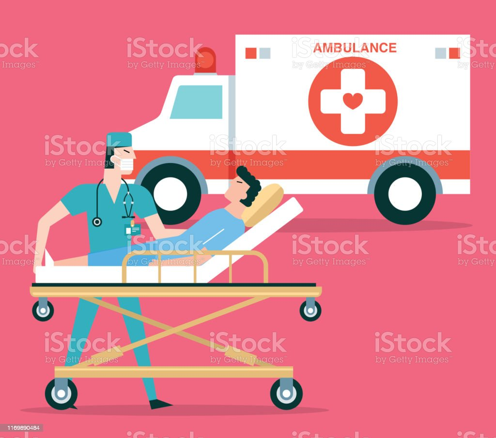 Emergency medical services or Rescue medical illustration stock