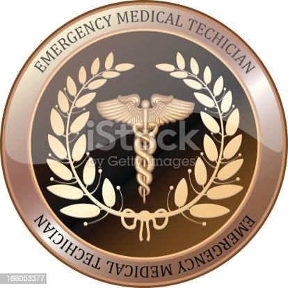 istock Emergency Medical Technician Shield 166053377