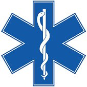 istock Emergency Medicine Symbol - Star of Life 165586847
