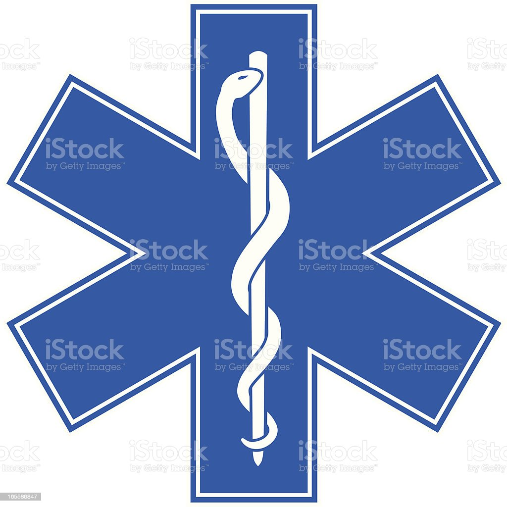 Emergency Medicine Symbol - Star of Life vector art illustration