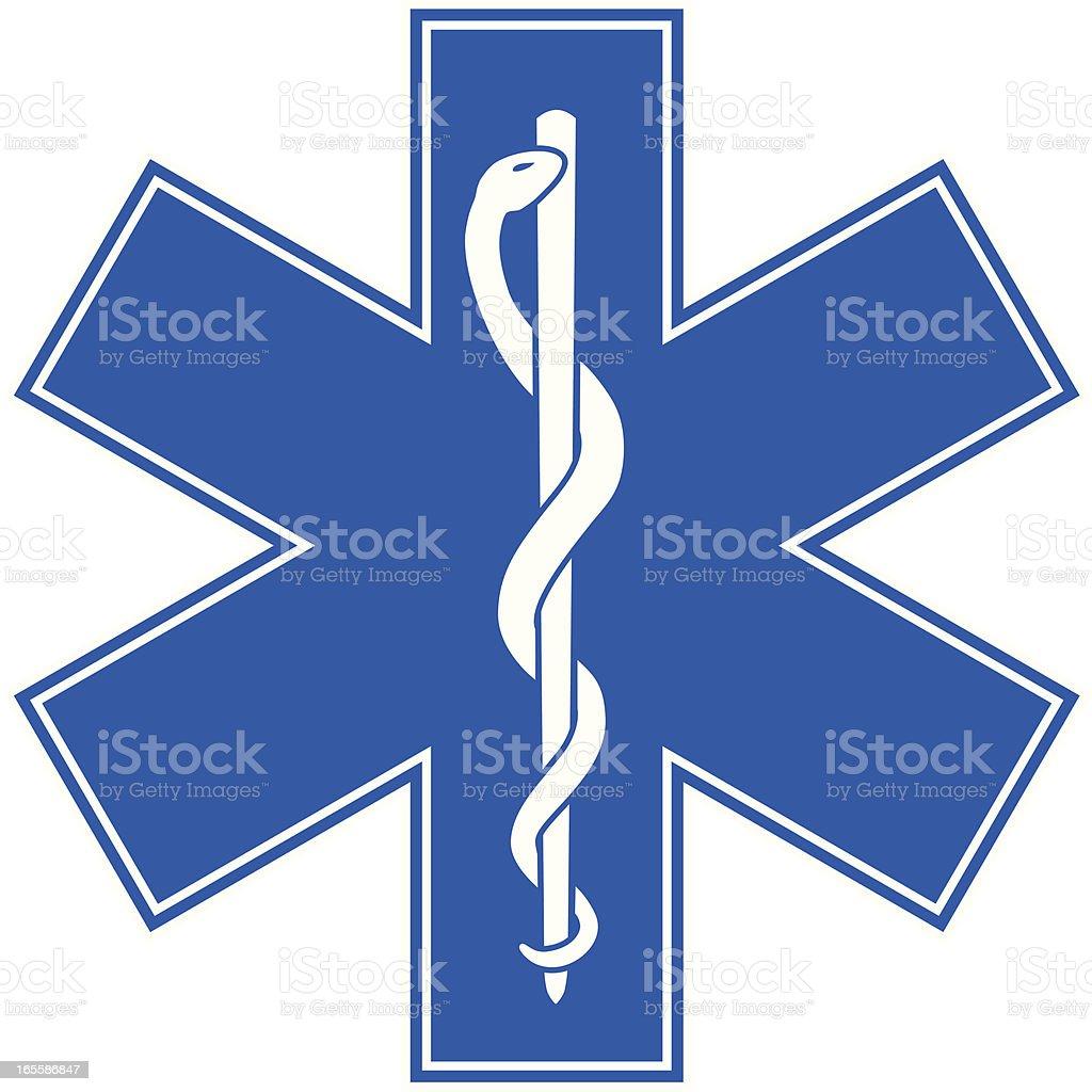 Emergency Medicine Symbol - Star of Life vector art illustration