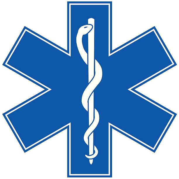 救急医療シンボルつ星の寿命 - ヘルメスの杖点のイラスト素材/クリップアート素材/マンガ素材/アイコン素材