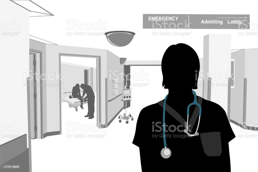 Emergency Nurse royalty-free emergency nurse stock vector art & more images of accidents and disasters