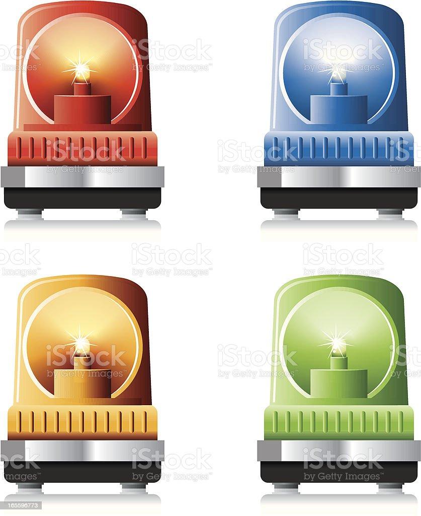 Avisador luminoso de servicio de emergencia ilustración de avisador luminoso de servicio de emergencia y más banco de imágenes de alarma de incendio libre de derechos