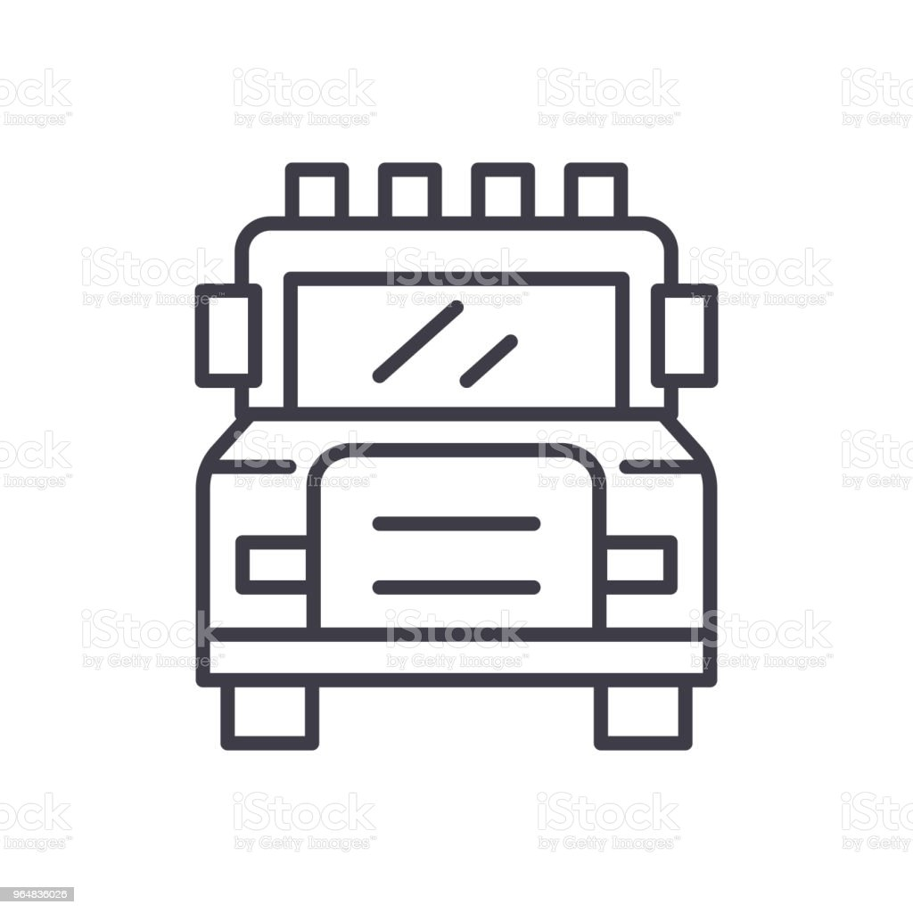 Emergency service black icon concept. Emergency service flat  vector symbol, sign, illustration. royalty-free emergency service black icon concept emergency service flat vector symbol sign illustration stock vector art & more images of accidents and disasters