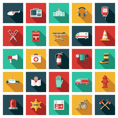 Emergency Services and Rescue Icon Set