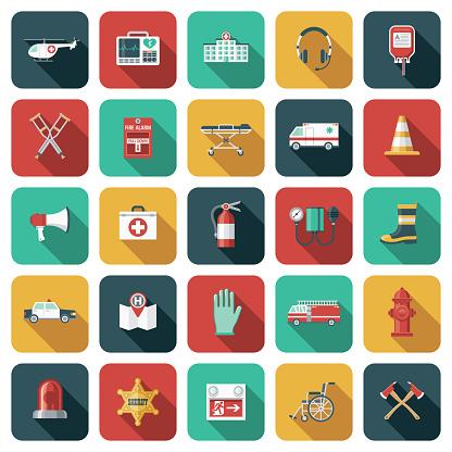 Emergency Services Icon Set
