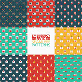 Emergency Services Seamless Pattern Set