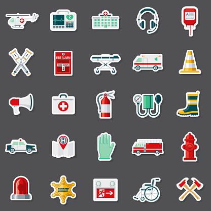 Emergency Services Sticker Set