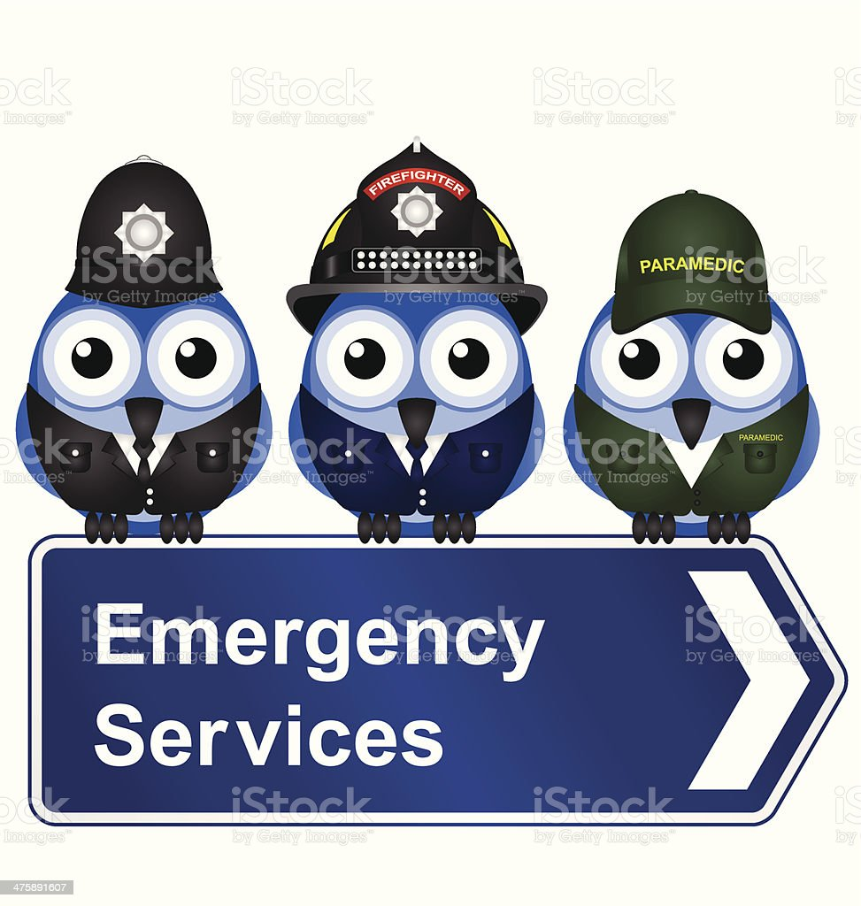 Emergency Services vector art illustration