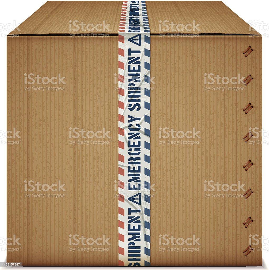 emergency shipment box royalty-free stock vector art