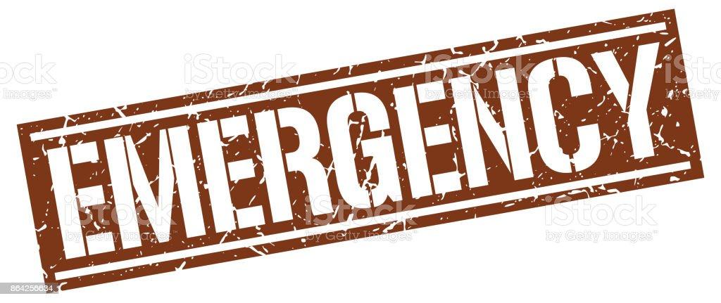 emergency square grunge stamp royalty-free emergency square grunge stamp stock vector art & more images of badge