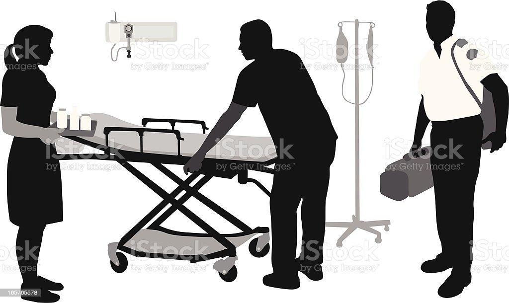 Emergency Staff Vector Silhouette vector art illustration