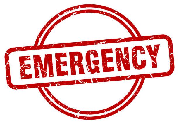 emergency stamp. emergency round vintage grunge sign. emergency vector art illustration