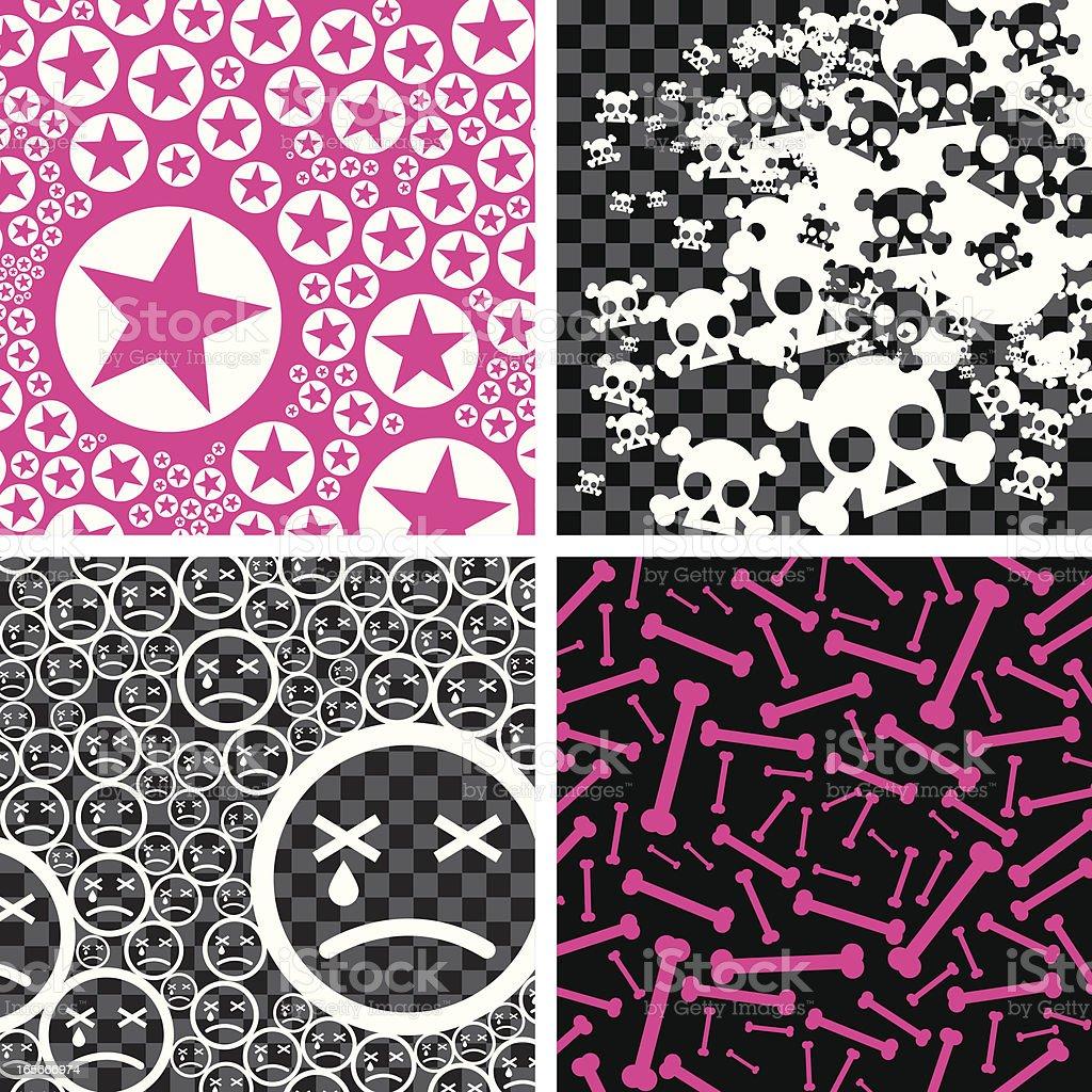 Emo backgrounds vector art illustration