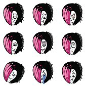 Emo character model sheet (Expressions)