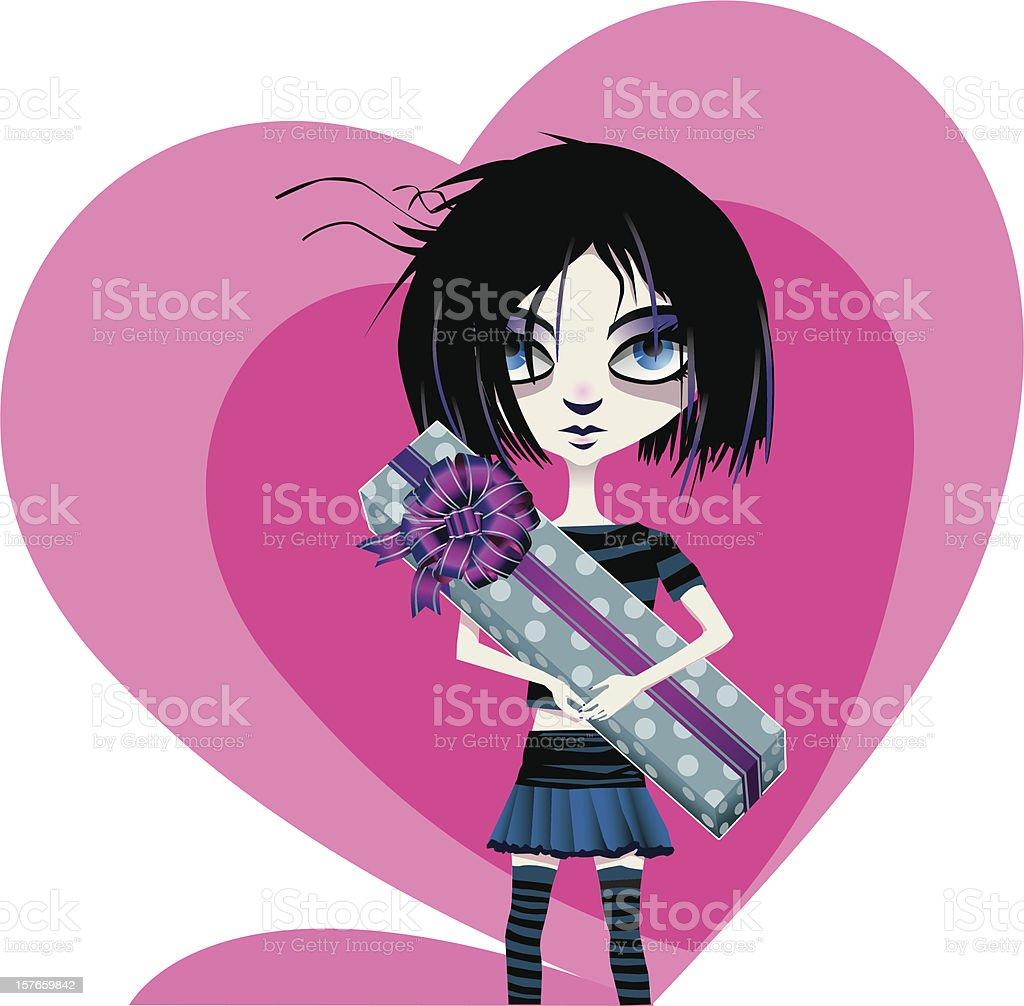 Chica Emo De San Valentín - Arte vectorial de stock y más imágenes ...