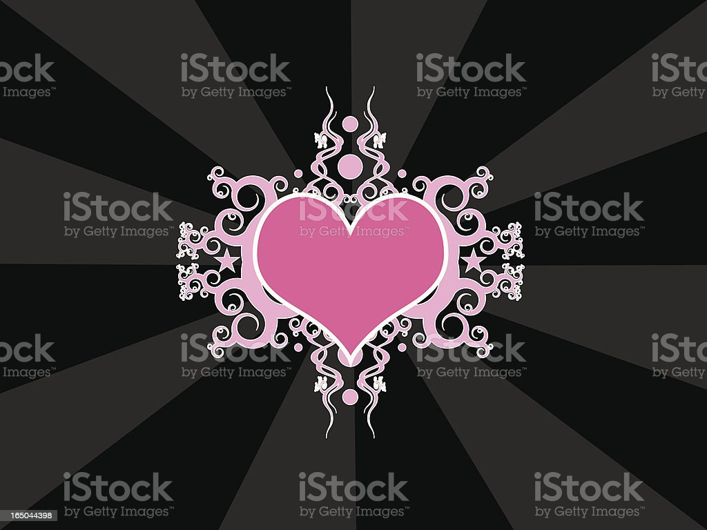 Emo Heart royalty-free emo heart stock vector art & more images of abstract