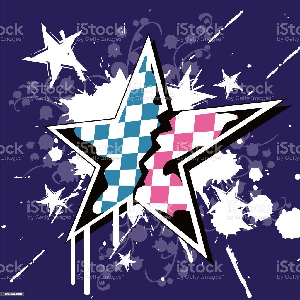 Emo Star royalty-free stock vector art