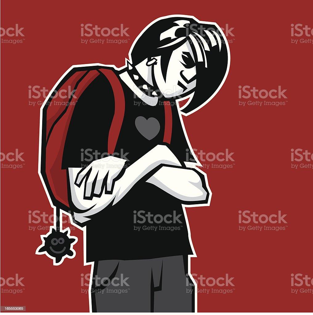 Emo vector art illustration