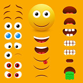 Emoji creator vector design collection