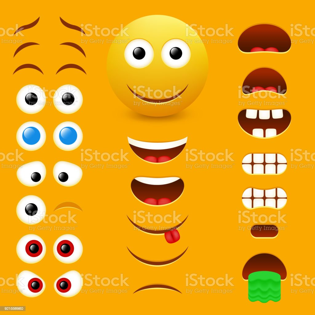 Emoji creator vector design collection vector art illustration