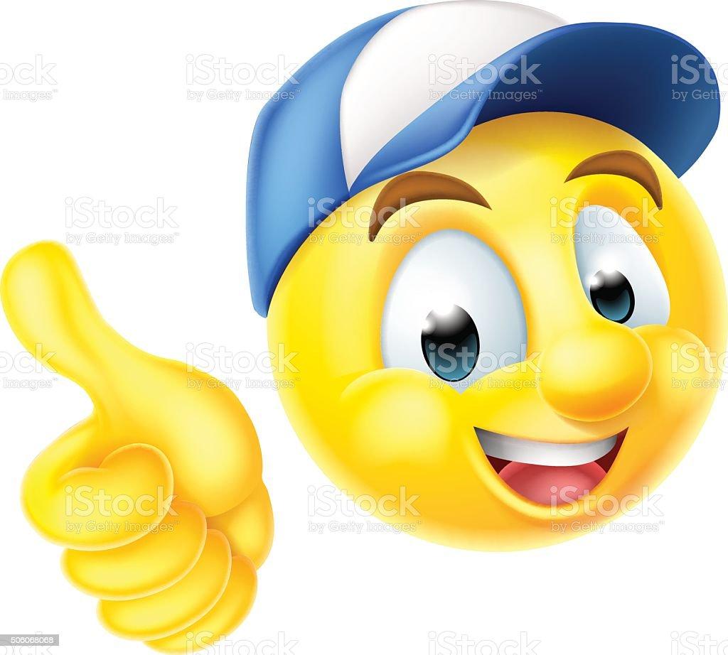 emoji emoticon arbeiter geben daumen hoch stock vektor art und mehr bilder von anthropomorph hammer clipart black hammer clipart back