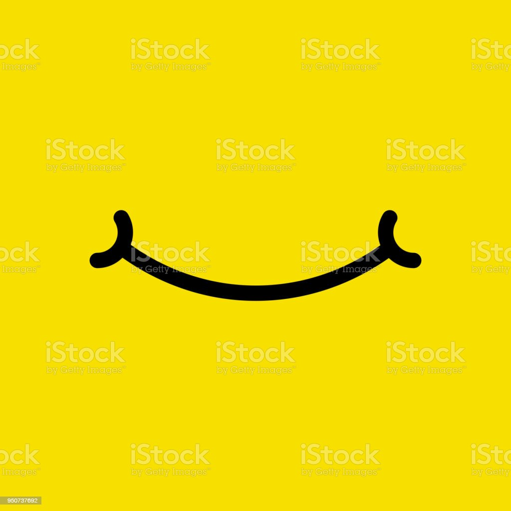 Emoji face. Flat cartoon simple style minimal logo graphic design isolated on background. Vector illustration.