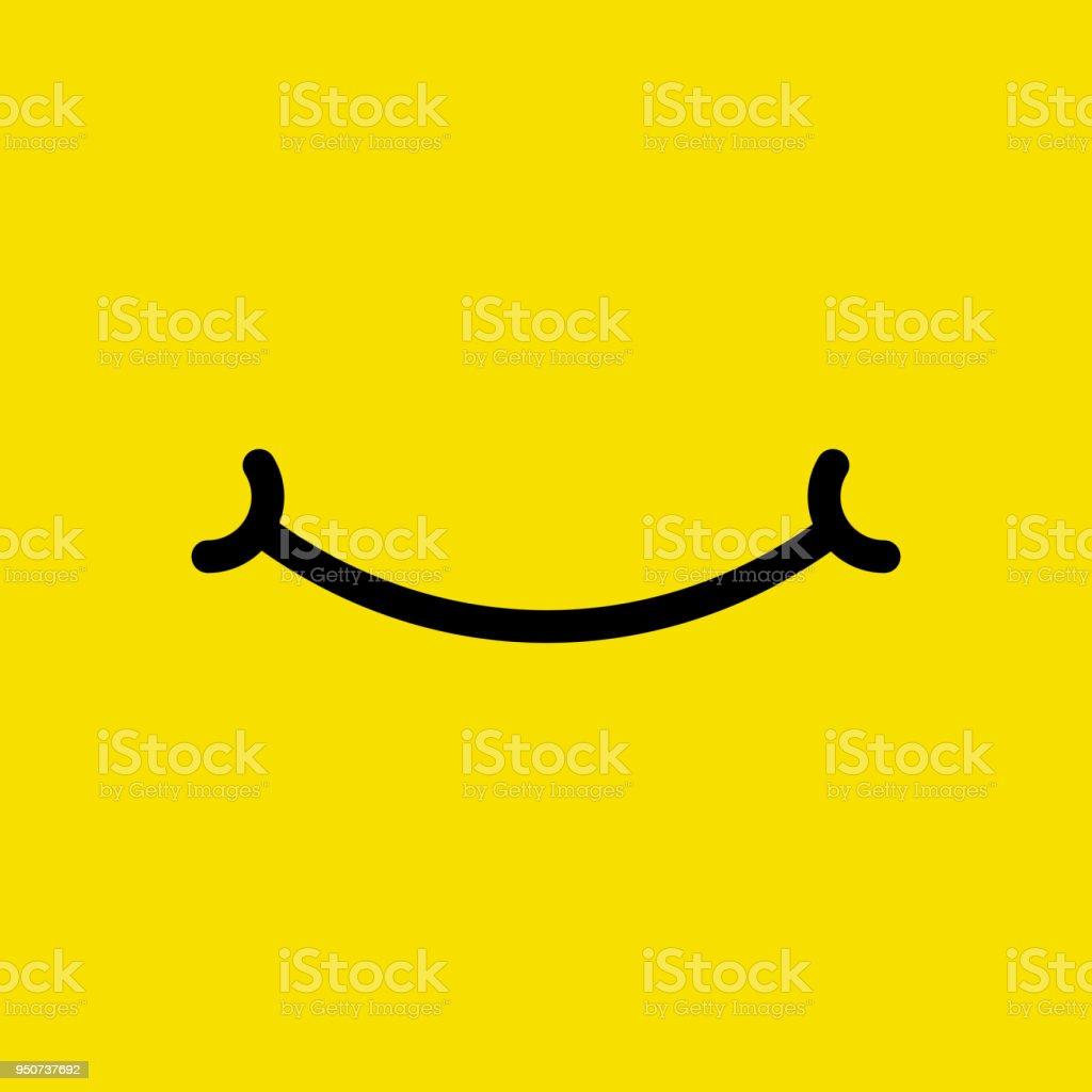 Emoji face. Flat cartoon simple style minimal logo graphic design isolated on background. Vector illustration. vector art illustration