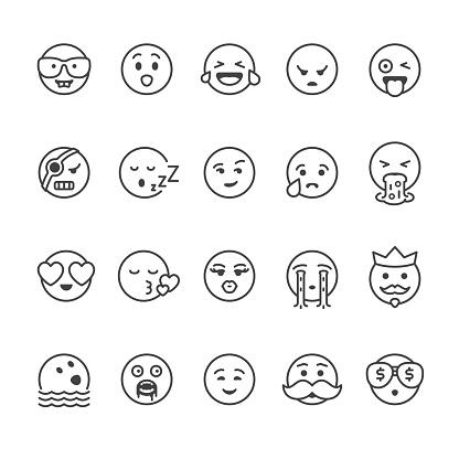 Emoji face vector icons