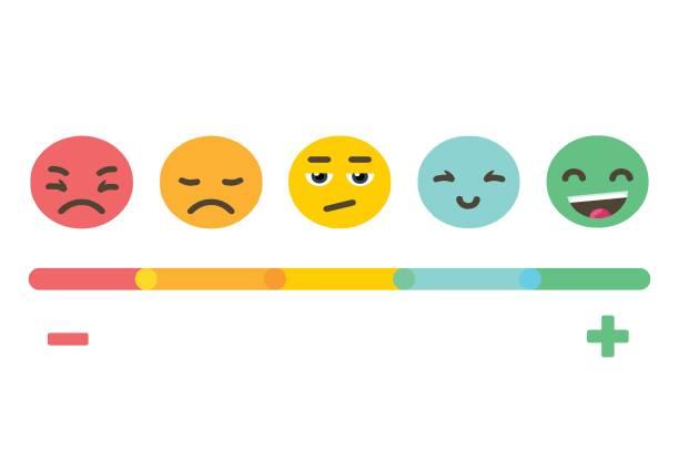 Échelle d'émotions Emoji Feedback - Illustration vectorielle