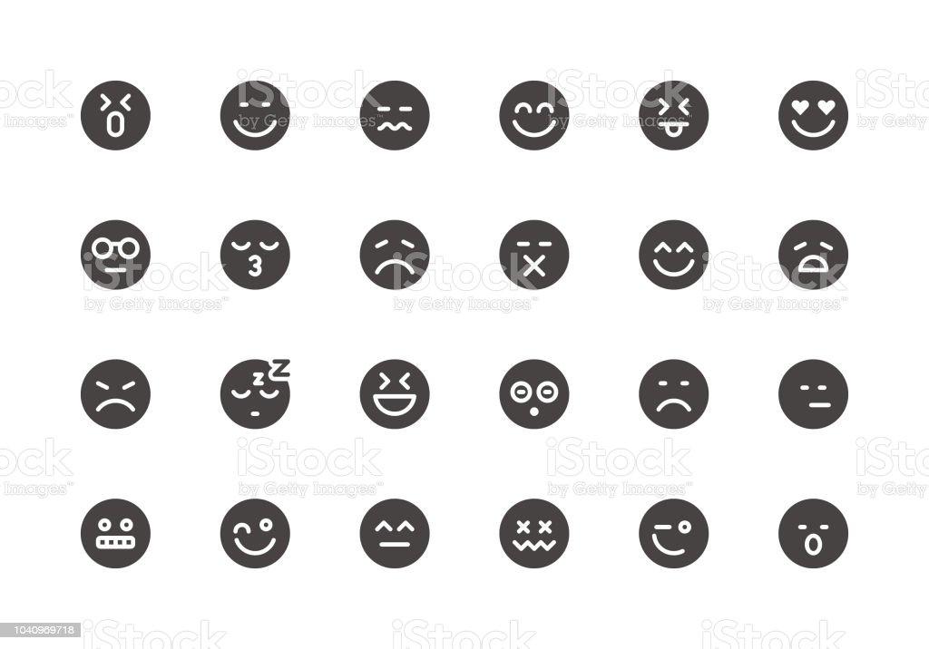 Emoji - Glyph Icons vector art illustration