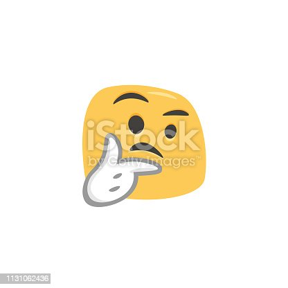 Vector illustration of a cartoony and cute colorful emoticon